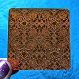 Deco Disc Bloom Tiles Stamp and Texture Pattern