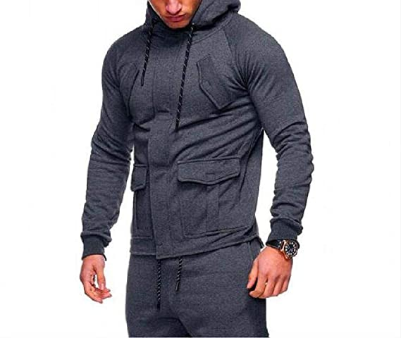 MZjJPN Men Sudaderas Hombre Hip Hop Mens Solid Hooded Zipper Hoodie Cardigan Sweatshirt Slim Fit Men Hoody at Amazon Mens Clothing store: