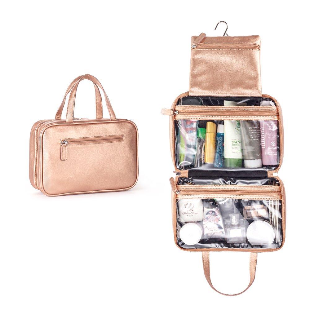 Mealivos Large Versatile Travel Cosmetic Bag - Perfect Hanging Travel Toiletry Organizer