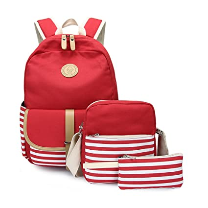 4f380b370673 Amazon.com: Girls'3 Set Backpacks,Canvas School Fashion Backpack ...