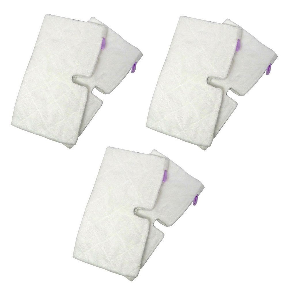 EcoMaid Accessories For 3 Replacement Triangle Pads Compatible with Shark Euro Pro Pocket Steam Mop
