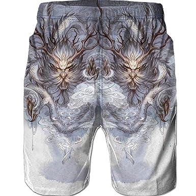 Bañador Hombre Pantalones de Playa con Forro con Cordón ...