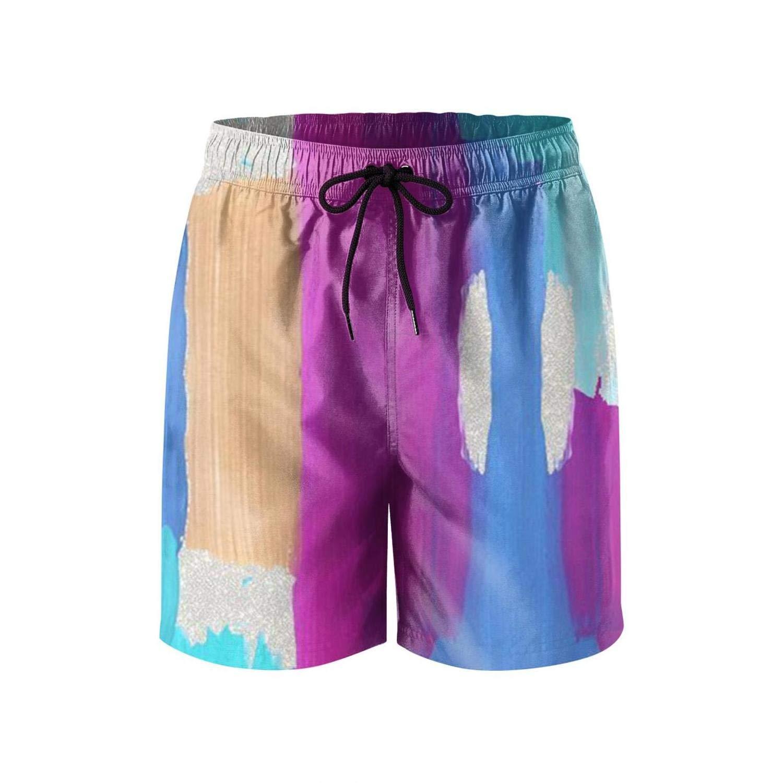 LHSKH Scrawl Mens Swim Trunks Elastic Waist Boardshorts for Men Summer Mens Swim Shorts