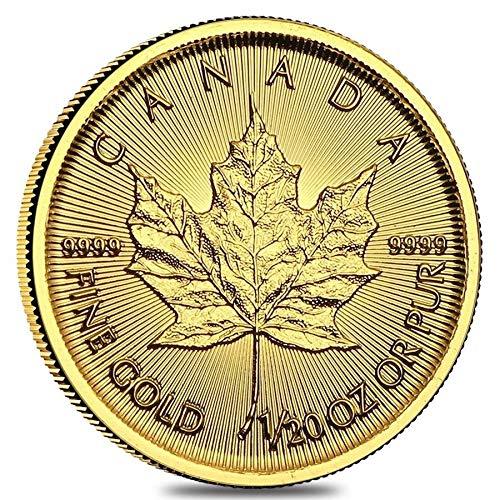 1 CA Random year 1/20 oz Gold maple Leaf $1 Brilliant Uncirculated