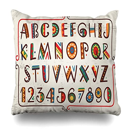 Afagahahs - Fundas de almohada decorativas con letras rojas ...