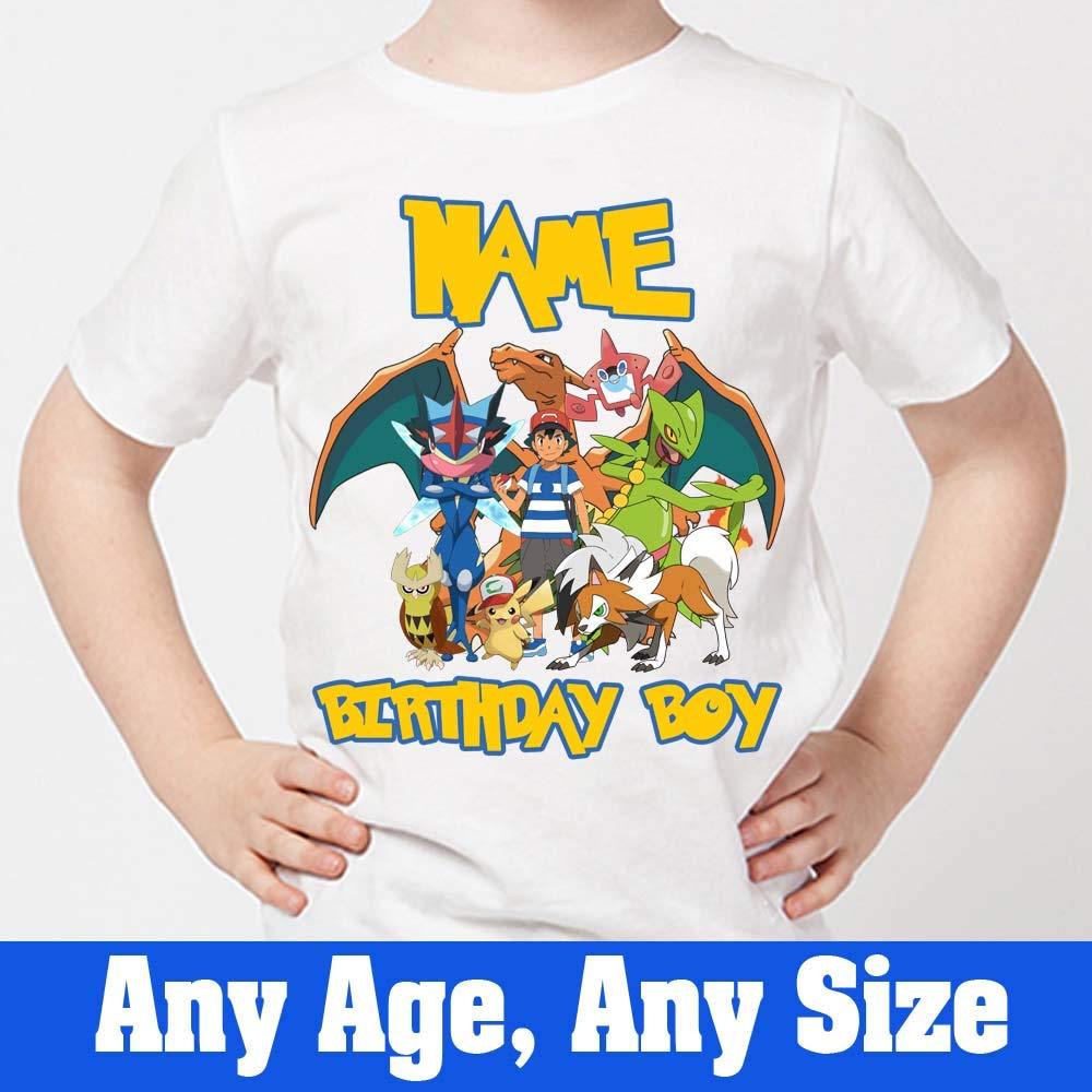 7334fbc0 Sprinklecart Pokemon Birthday Tee | Ideal Name Printed Birthday Wear:  Amazon.in: Clothing & Accessories