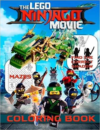 LEGO NINJAGO Movie Coloring Book: Great Activity Book for Kids with ...