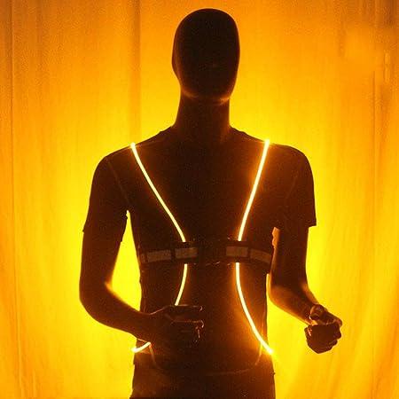 Sunoney - Chaleco Reflectante Unisex LED de neón con protección de ...