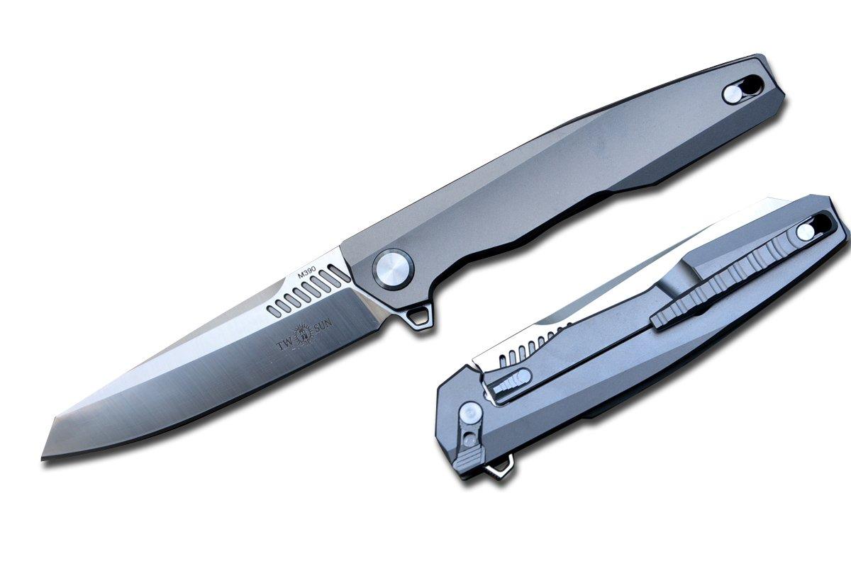 Amazon.com: TwoSun TS88 - Cuchillo de titanio para ...