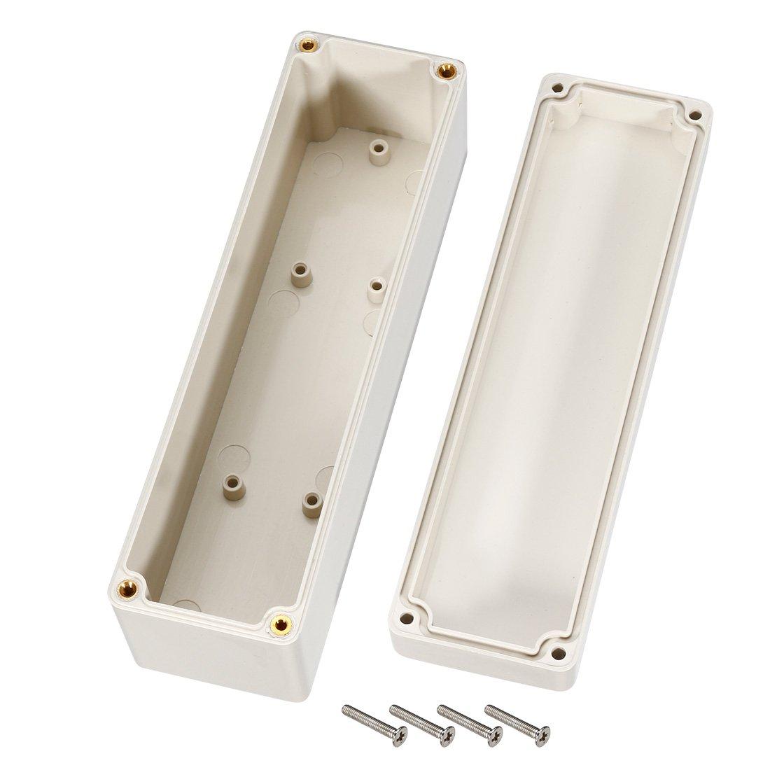 Sourcingmap 160/Mmx55mmx45/mm Electronic Plastique ABS DIY Bo/îte de jonction bo/îtier Gris
