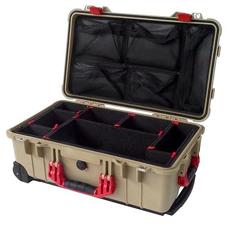 pelican 1510 tool box. tan \u0026 red \u0026quot;colors\u0026quot; series case pelican 1510 with trekpak divider system tool box