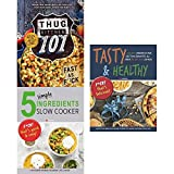 img - for Thug kitchen 101 [hardcover], 5 simple ingredients slow cooker and tasty & healthy 3 books collection set book / textbook / text book