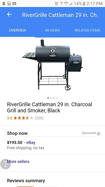 971cc3533a2 Amazon.com   RiverGrille 29 INCH Grill   Smoker   Garden   Outdoor