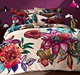 LeLv Bohemia Exotic Bedding Set Bohemian Duvet Covers Boho Bedding Set Queen Size Summer Style Sabanas Sheet 4 Pieces (King, 3)