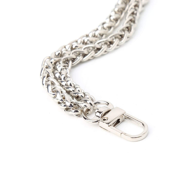Yulongo Women Bag Handle Diy Replacement Wrist Strap Chain Accessories Clutch Wristlet Purse Coin Bag Key,Black,Onesize