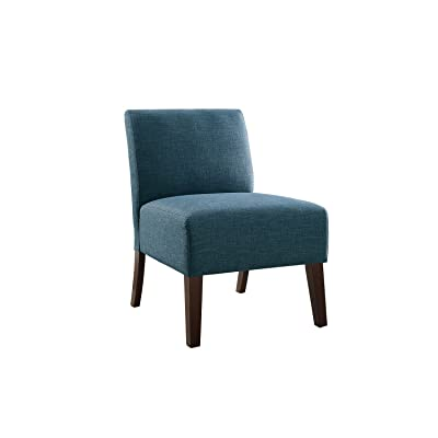 "Poundex F1661 Bobkona Watonga Dorris Fabric Accent Chair, 24"" x 27"" x 35""H, Blue"