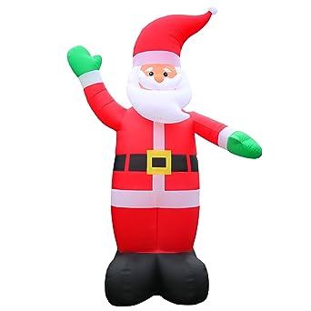 Amazon De 6 Meter Grosser Xxl Airblown Weihnachtsmann Dekoration
