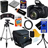 HeroFiber Canon Powershot SX530 HS 16.0 MP Digital Camera with 50x Zoom, Wi-Fi & 1080p Full HD Video + NB-6L Battery & AC/DC Charger + 10pc Bundle 32GB Deluxe Accessory Kit w Gentle Cleaning Cloth