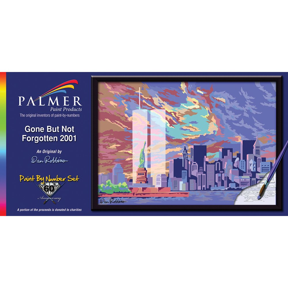 Palmer 11-1/2-Inch by 15-Inch Paint by Number Kit, Gone But Not Forgotten 2001 by Palmer
