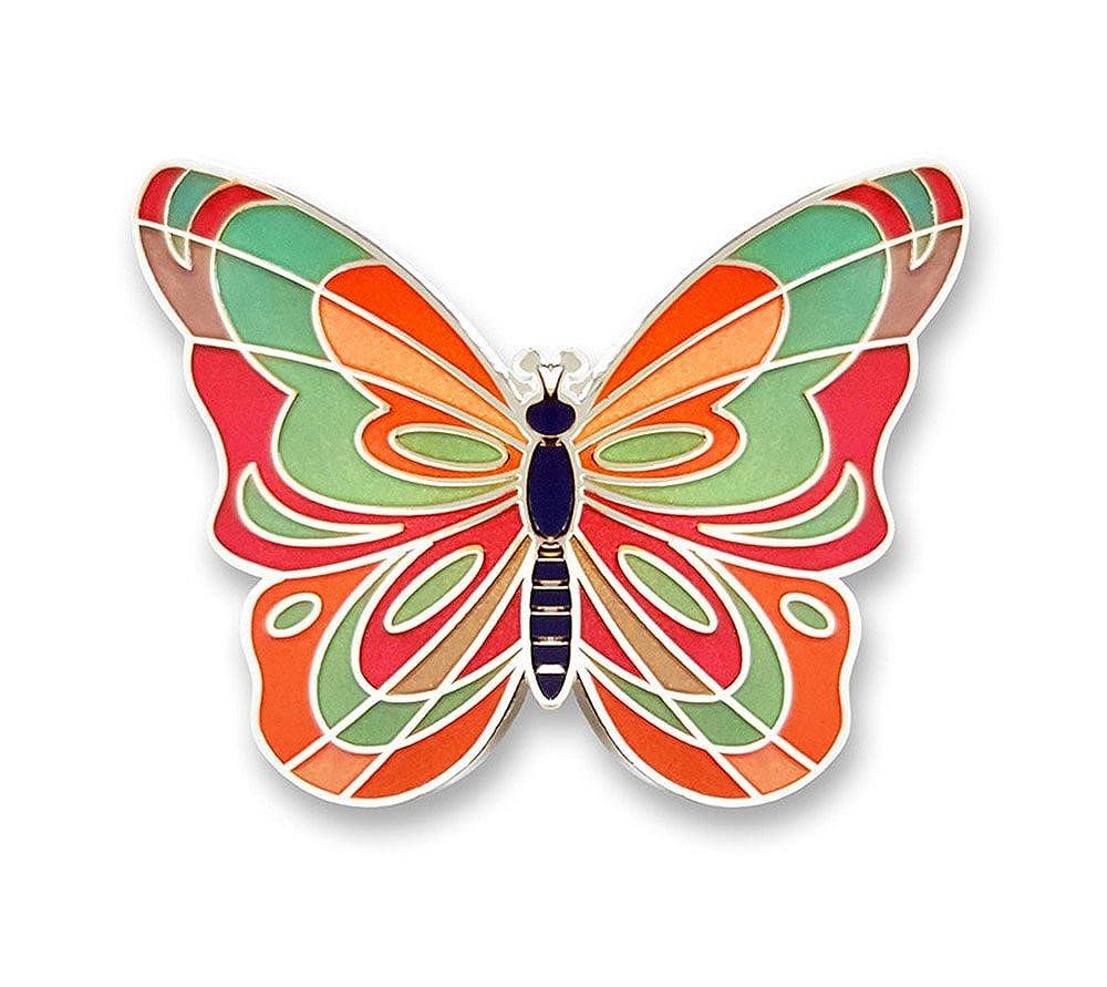 5b74ce29f0821 Amazon.com: Pinsanity Butterfly Enamel Lapel Pin: Jewelry