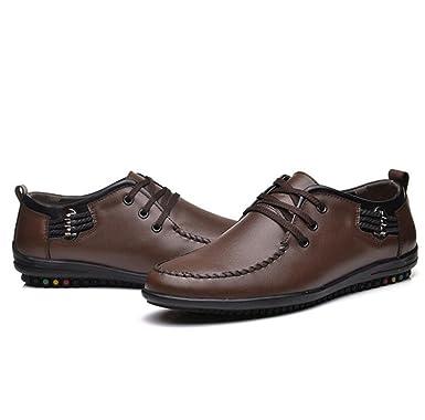 GTYMFH Hombres Moda Apuntada Negocio Formal Zapatos De Vestir Faux Cuero Mocasines Oficina De Fiesta Casual Zapatos: Amazon.es: Ropa y accesorios