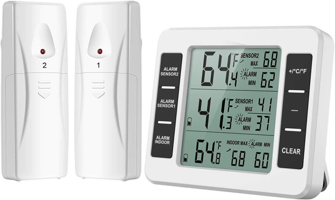 Digital Fridge Thermometer with Alarm