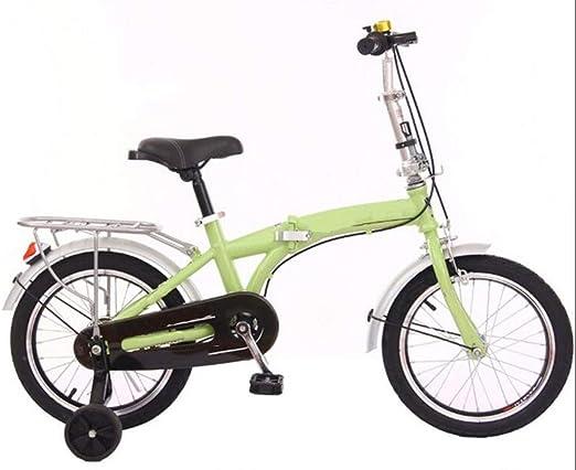 JBHURF Bicicletas Plegables para niños y niñas, cochecitos de bebé ...