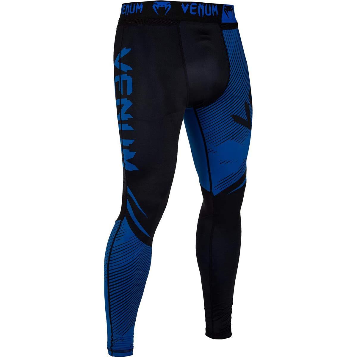 Venum No-Gi 2.0 MMA Compression Spats - Small - Black/Blue by Venum