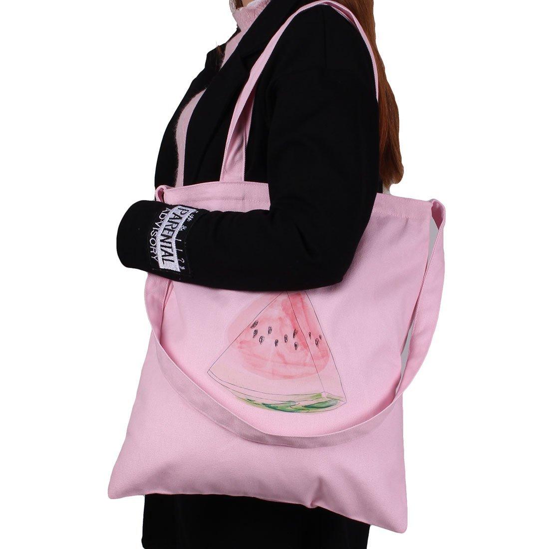 Amazon.com: Patrón eDealMax lienzo sandía Señora de compras fuera de mano del hombro la bolsa de asas rosada: Kitchen & Dining