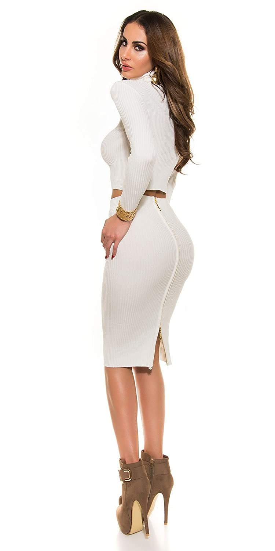 In-Stylefashion Women's Skirt white cream One size