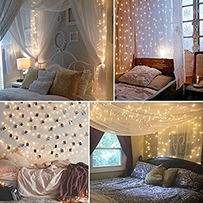 ECOWHO LED String Lights Dimmable Starry Lights Remote Control String Lights Waterproof Decorative Lights for Patio, Garden, Bedroom, Party and Festivals