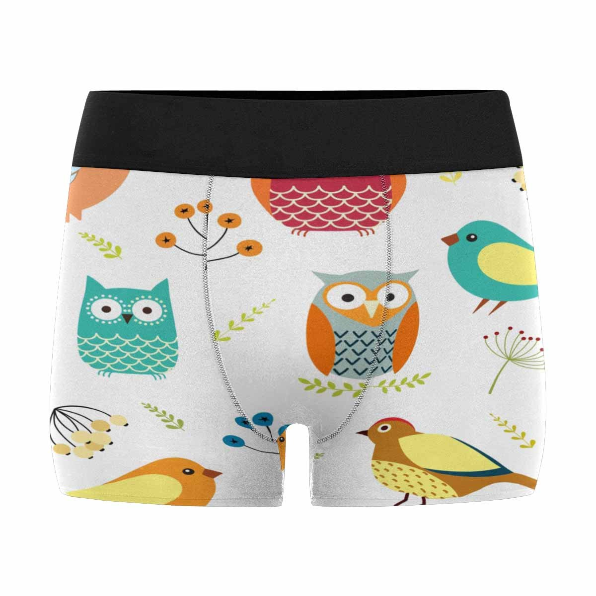 Birds and Branches INTERESTPRINT Custom Mens All-Over Print Boxer Briefs Owls XS-3XL
