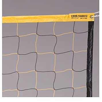 Amazon.com : Economy Volleyball Net -Black/Yellow : Indoor ...