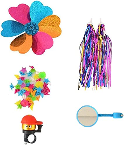Tsangbaby Kids Bike Bell Bike Handle Tassels Shiny Bicycle Ribbons Streamers for Girls Boys Tricycle Scooter