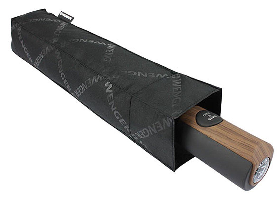 Wenger Parapluie Canne Automatique, 34 cm, (Noir)