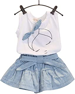 Mädchen Kleider Festlich, Weant Baby Kleidung Mädchen ÄRmellos Bow Plaid Tops + Plaid Hosen Sets FüR Kinder Mädchen Kleidung Partykleid Chiffon Kleid Baby Tägliche Kleidung Pullover