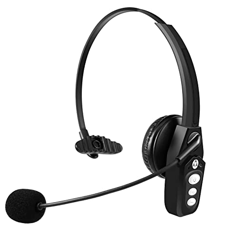 77a6531f73b Conambo Bluetooth Headset, Wireless Hands-Free Earpiece with Microphones,  On Ear Car Bluetooth