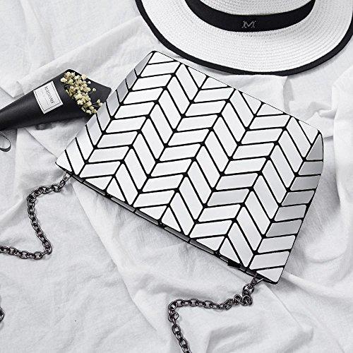 Aoligei 5 * 8 Matt Girl petit sac à bandoulière ondulés style japonais losange à géométrie variable sac A