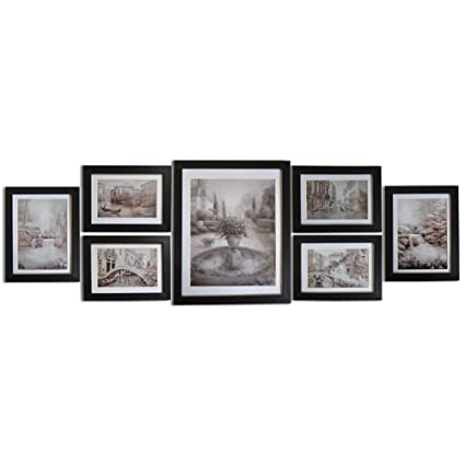 Amazoncom Giftgarden Black Picture Frames Set Wall Gallery Frame