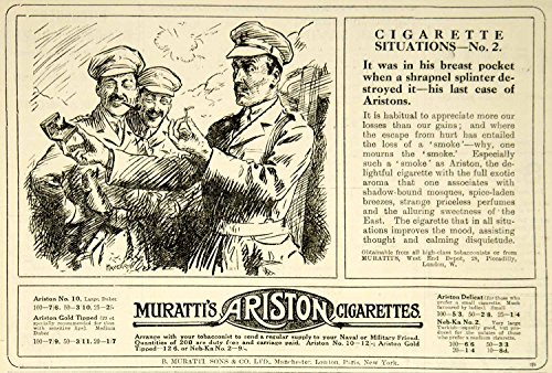 1916-ad-world-war-i-murattis-ariston-cigarettes-officers-smokes-british-advert-original-print-ad