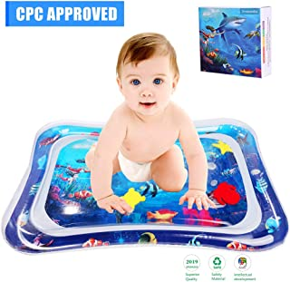 JUOIFIP Inflatable Water Mat Baby Tummy Time Water Play Mat Infants and Toddlers Perfect Baby Toys Fun time Play Activity Center Your Baby's Stimulation Growth-BPA Free (Upgraded)