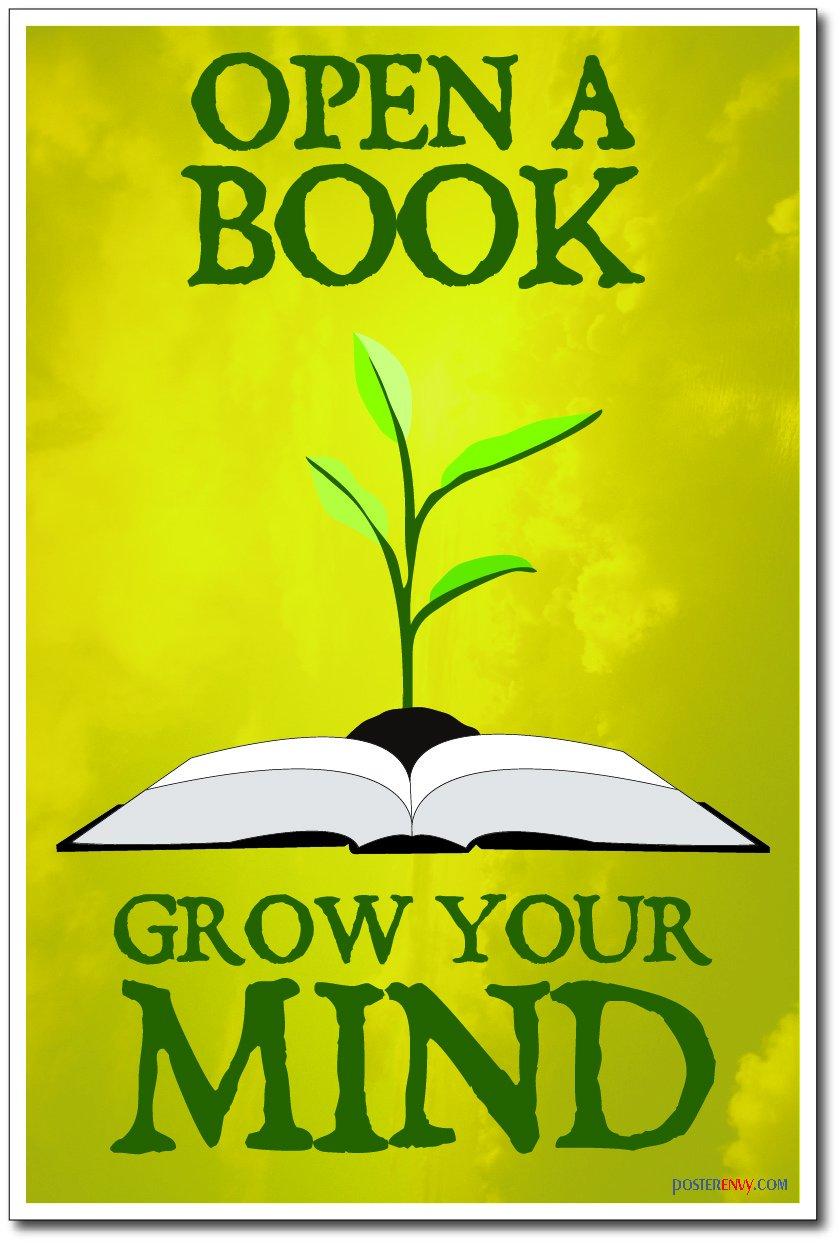 amazon com open a book grow your mind new classroom motivational