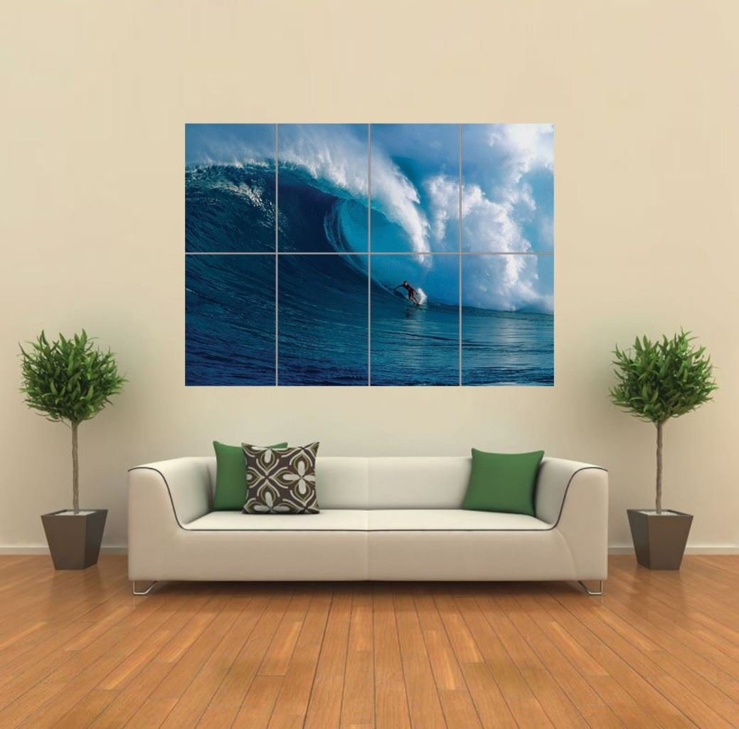 SURFING SURF WAVE OCEAN GIANT WALL PRINT POSTER G800: Amazon.co.uk: Kitchen  U0026 Home Part 44