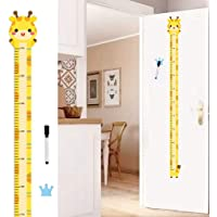 Bady Size Chart,Cute Cartoon Decals Poster, Removable Growth Chart for Kids Room