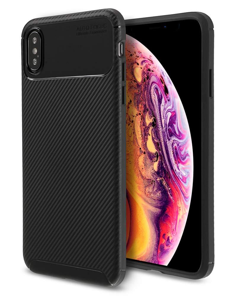 iPhone Xs MAXケース、iPhone Xs MAX用Xawyストロングガード保護シリーズケース - ブラック   B07JYPDS1Q