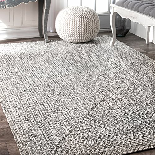 nuLOOM Lefebvre Braided Indoor Outdoor Rug, 4 x 6 , Light Grey