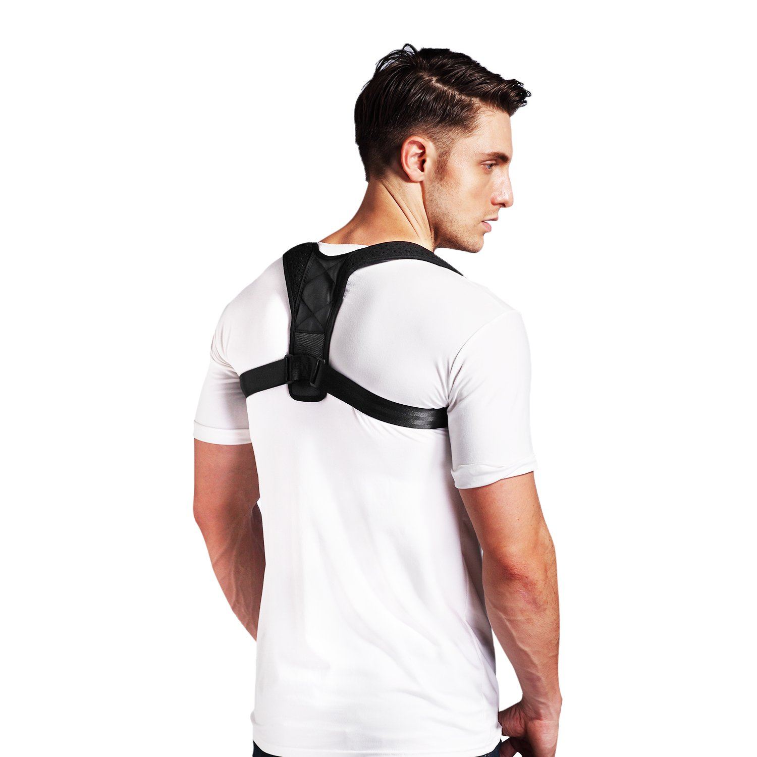 Conbays Back Posture Corrector for Women Men Adjustable Clavicle Brace Support Shoulder Connector Upper Back Pain Relief Posture Support Strap for Home Office by Conbays (Image #3)