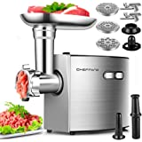 ElectricMeatGrinder,CHEFFANO StainlessSteelMeatMincerSausageStuffer, 2600WMax ETLApproved Meat Grinder Machine with