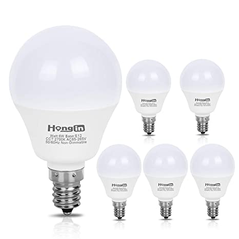 G45 Led Bulbs 6 Watt 60w Equivalent E12 Small Base Hong In Candelabra Round Light Bulb Warm White 2700k A15 Led Bulb Globe Shape Non Dimmable G45