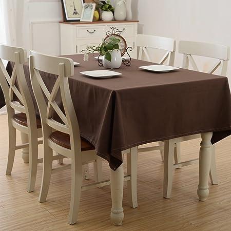 LU Süßigkeit-Farben-Baumwollhaushalt-Stab-Tischdecke-Staub-Persenning-Tuch-rechteckige Tischdecke ( farbe : Braun , größe : 6